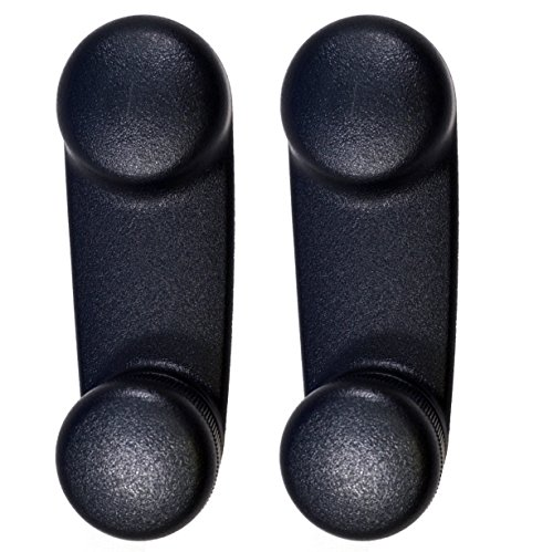 (PT Auto Warehouse CH-1833A-P - Inside Interior Inner Window Crank Handle, Black - Left/Right Pair)