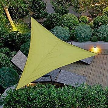 SUREH con Protezione UV in Tessuto Impermeabile Cortile con Corda per Esterni Feste Giardino Patio Tenda a Vela Triangolare