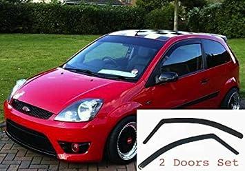 2x Deflettori D'Aria per Ford Fiesta 3 Porte 2002-2008 MK5 In