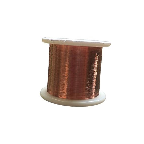 zvcvb diámetro 0,06 mm imán alambre, alambre de cobre esmaltado (esmaltado alambre 2000 M: Amazon.es: Bricolaje y herramientas
