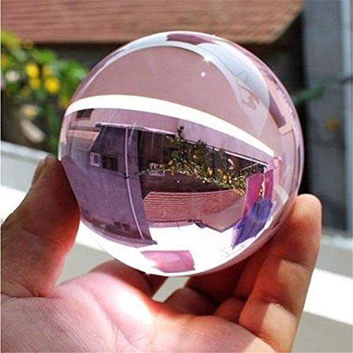 KeyZone 40mm Asian Rare Natural Quartz Magic Crystal Healing Ball Sphere Pink