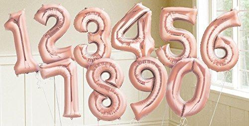 [해외]로즈 골드 호일 번호 풍선 상위 목록 장난감 게임/Rose Gold Foil Number Balloons Parent Listing Toys Games
