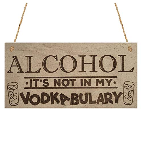 Party Diy Decorations - Alcohol Vodkabulary Funny Drink Vodka Friendship Gift Hanging Plaque Joke Sign - Party Decorations Party Decorations Smiley Friendship Jewelry Alcohol Tshirt Black Sist]()