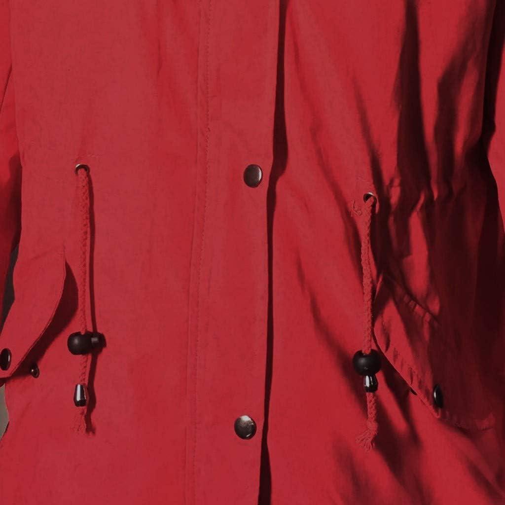 Oldlover-Women Hooded Warm Winter Coats with Faux Fur Lined Outwear Jacket Parka Coat Puffer Windbreaker with Fur Hood