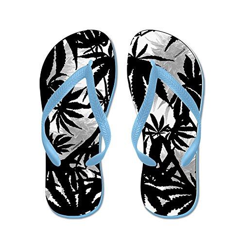 Tessuto Di Canapa Camomoto In Tessuto Di Marijuana # 5 - Infradito, Sandali Infradito Divertenti, Sandali Da Spiaggia Blu Caraibico