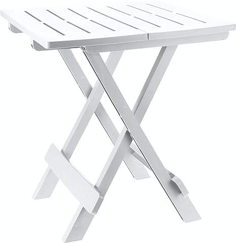 Garten Klapptisch Kunststoff.Kunststoff Beistelltisch Kleiner Klapptisch Gartentisch Tisch Camping Weiß
