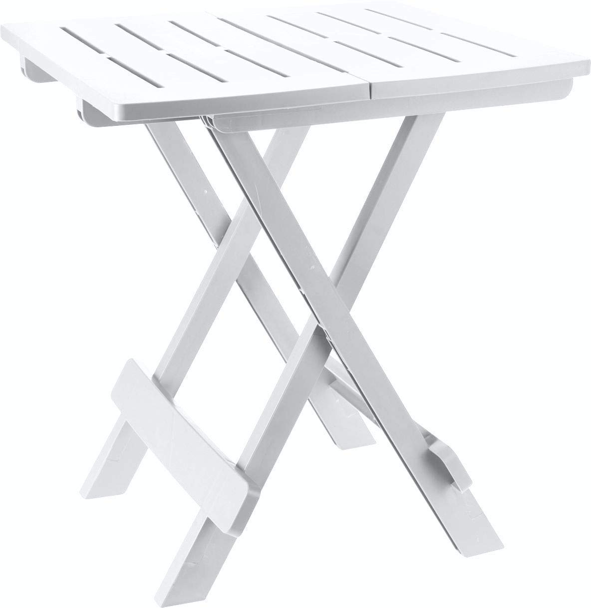 Ipae-Progarden Adige Folding Table, White, 44 x 44 x 50 cm