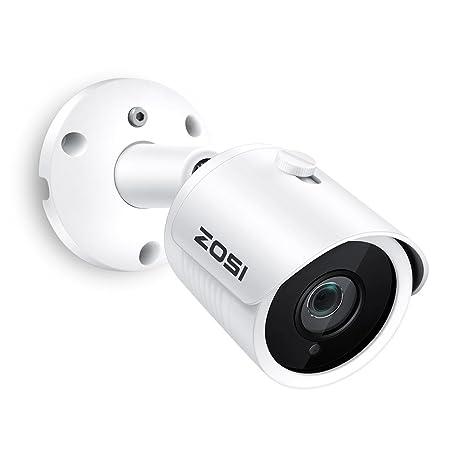 ZOSI Full HD 2MP 1080P PoE Security Camera,1920X1080 Resolution,30M IR  Night Vision,IP66 Weatherproof Outdoor Indoor Bullet IP Camera Surveillance