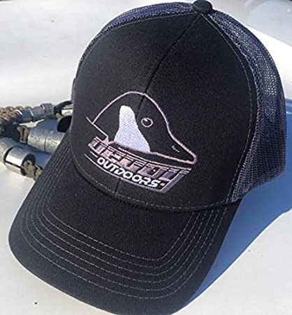 71f04fa397440 Image Unavailable. Image not available for. Color  Decoy Outdoors Black   Grey  Mesh Back Hat with Canada ...