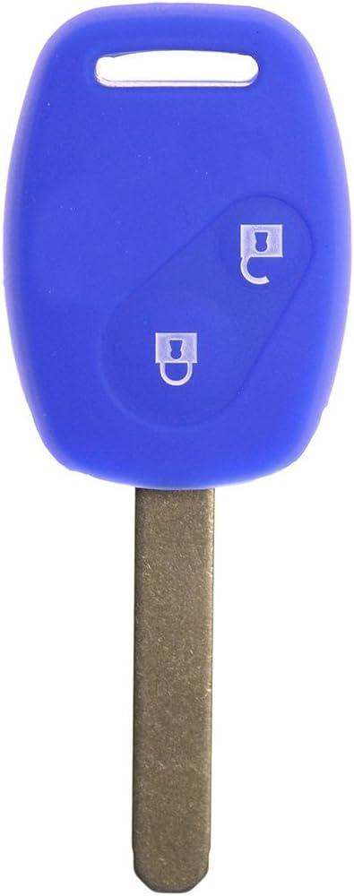 Key Soft Case Cover Funda Protectora Llave del Coche Azul Oscuro Honda Accord Civic Jazz FR-V CR-V 2 Botones