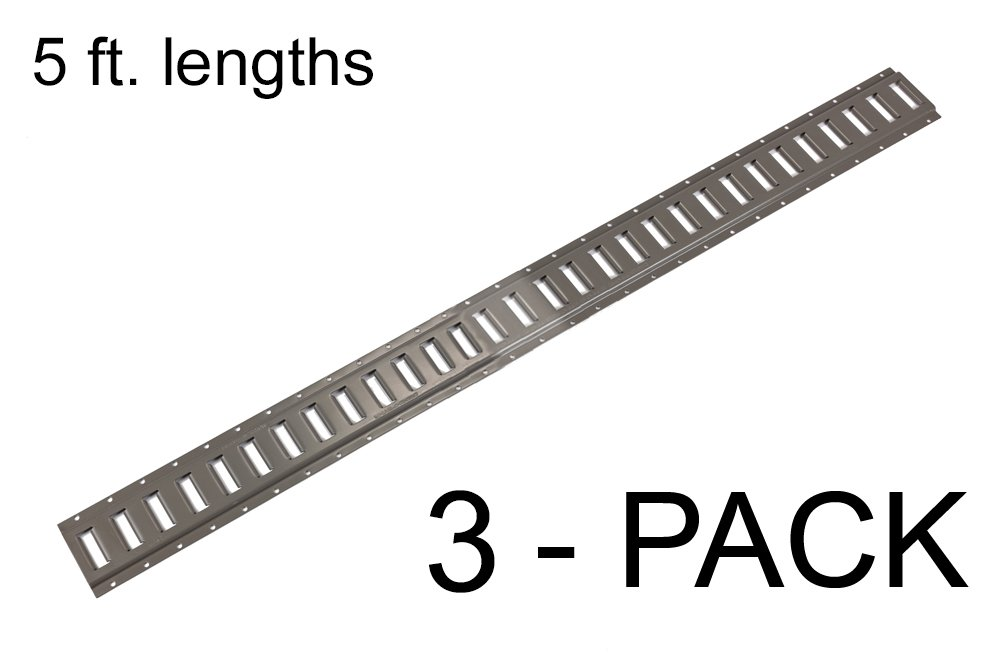 E Track Heavy Duty (12 gauge) 5 ft. Horizontal Trailer Tiedowns Mfg USA - 3 Pieces