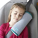 Nuby SeatBelt Pillow For Kids, Gray and Blue