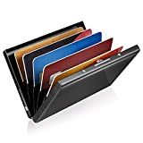 GreatShield RFID Blocking Wallet [6 Slots | Stainless Steel] Identity Safe Protection Card Holder (Black)