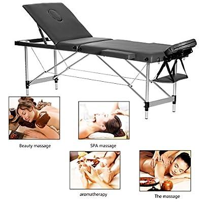 Water-chestnut Portable Folding Massage Table 3 Fold Aluminum Alloy Frame