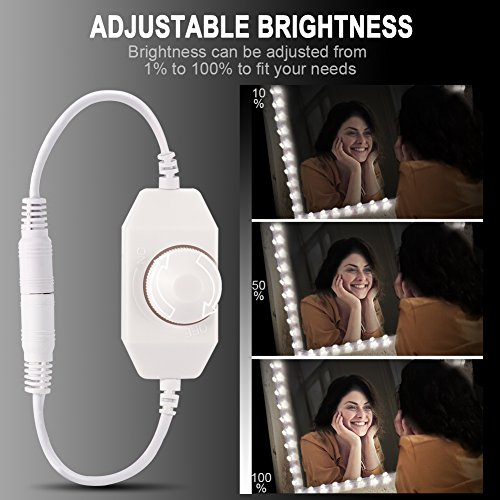 Litake LED Light Strip Kit with Dimmer and Power Supply, 240 Units SMD 2835 LEDs, 13ft/4M 12V LED Ribbon, 6000K Daylight White LED Strip Lights, Non-Waterproof LED Tape by Litake (Image #3)