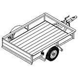 Utility Trailer Plans Blueprints (6' x 4'2'' - Model 1106)