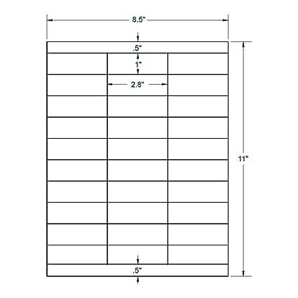 amazon com 2 83 x 1 clear labels 30 labels per sheet 100