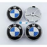 Automelody 4 pcs A Set 68mm Carbon Fiber Wheel Center Caps Hubcaps For BMW (color3)