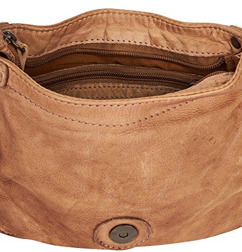 VOi Damen Überschlagtasche 21112 in Tabak Braun aus Leder um60fwI9