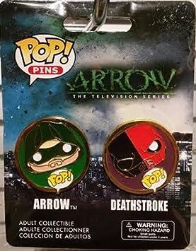 Funko Pop! Pins 2-pack Arrow and Deathstroke by Pop! Pins: Amazon.es: Juguetes y juegos