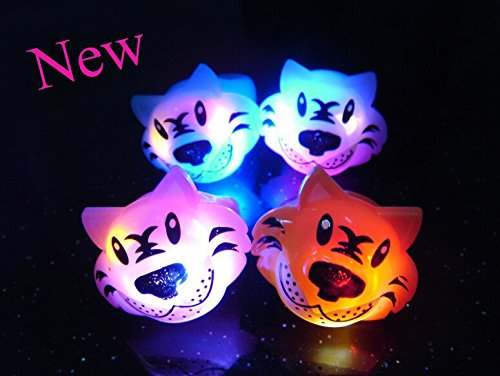 Mammoth Sales LED Light Up Flashing Animal Party Favor Rings - Various Styles (Tiger) by Mammoth Sales