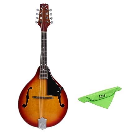 Sharplace Irin A-Style 8 Cuerda Eléctrica Mandolina Sunburst Spruce Instrumentos Musicales