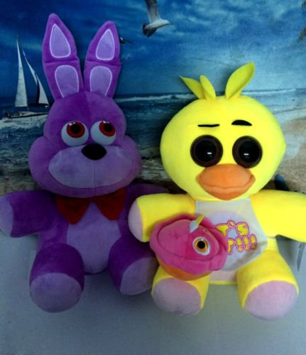 Freddy Fazbear Costume Real (2pcs FNAF Five Nights at Freddy's Chica & Bonnie Plush Toys doll gift 10