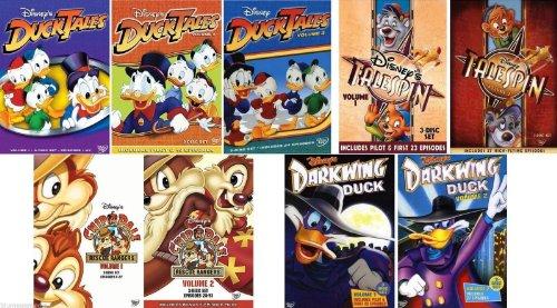 Disney Ducktales Volume 1-3/Chip N Dale Rescue Rangers Volume 1-2/Talespin Volume 1-2/Dark Wing Duck Volume 1-2-New DVD Lot of 9