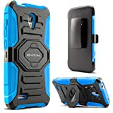 Evocel Alcatel OneTouch Conquest Case [New Generation] Rugged Holster Dual Layer Case [Kickstand][Belt Swivel Clip] For Alcatel OneTouch Conquest 7046T, Blue (EVO-AL7046T-XX02)