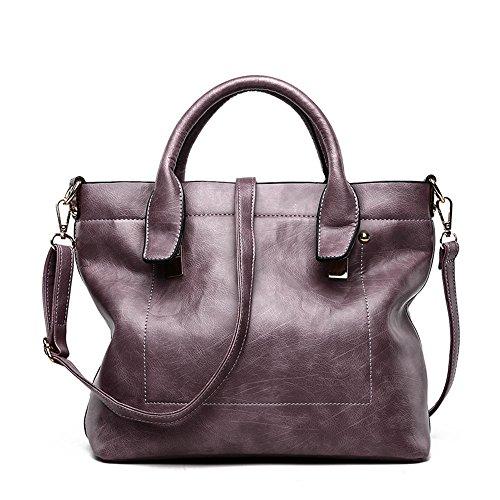 Gris La Violet Moda GWQGZ Retro Lady Handbag XwdXx67