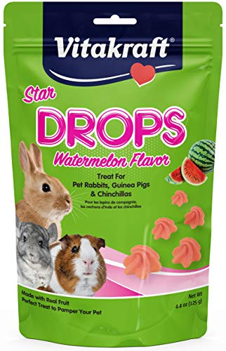 (Vitakraft Drops Watermelon Flavor Treats for Pet Rabbits, Guinea Pigs & Chinchillas)
