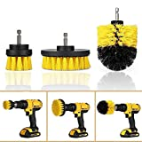Drill Brush, Drill Powered Cleaning Scrub Brush, 3 Pcs Alxcio Quick Cleaning Power Scrubber Drill Attachment for Cleaning Pool Tile,Flooring,Brick,RV,Ceramic,Marble,Car Tires and Grout