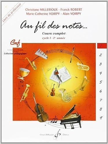 Livres en anglais à télécharger gratuitement Au Fil des Notes Volume 1 - Livre du Professeur in French PDF ePub MOBI