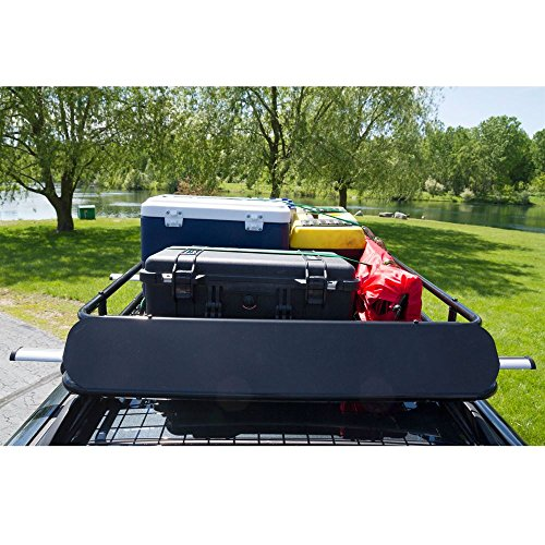 Apex Steel Roof Cargo Basket with Wind Fairing by Apex (Image #2)