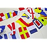 Naval Signal Flags/Flag - 40 Flags Bunting - 38 Feet - 100% Cotton - Nautical/Boat/Beach Party (5178)