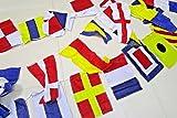 MARINE NAVY Signal Code FLAG - 40 flags Bunting - 38 Feet – COTTON – Nautical/Boat / Beach Party (5178)