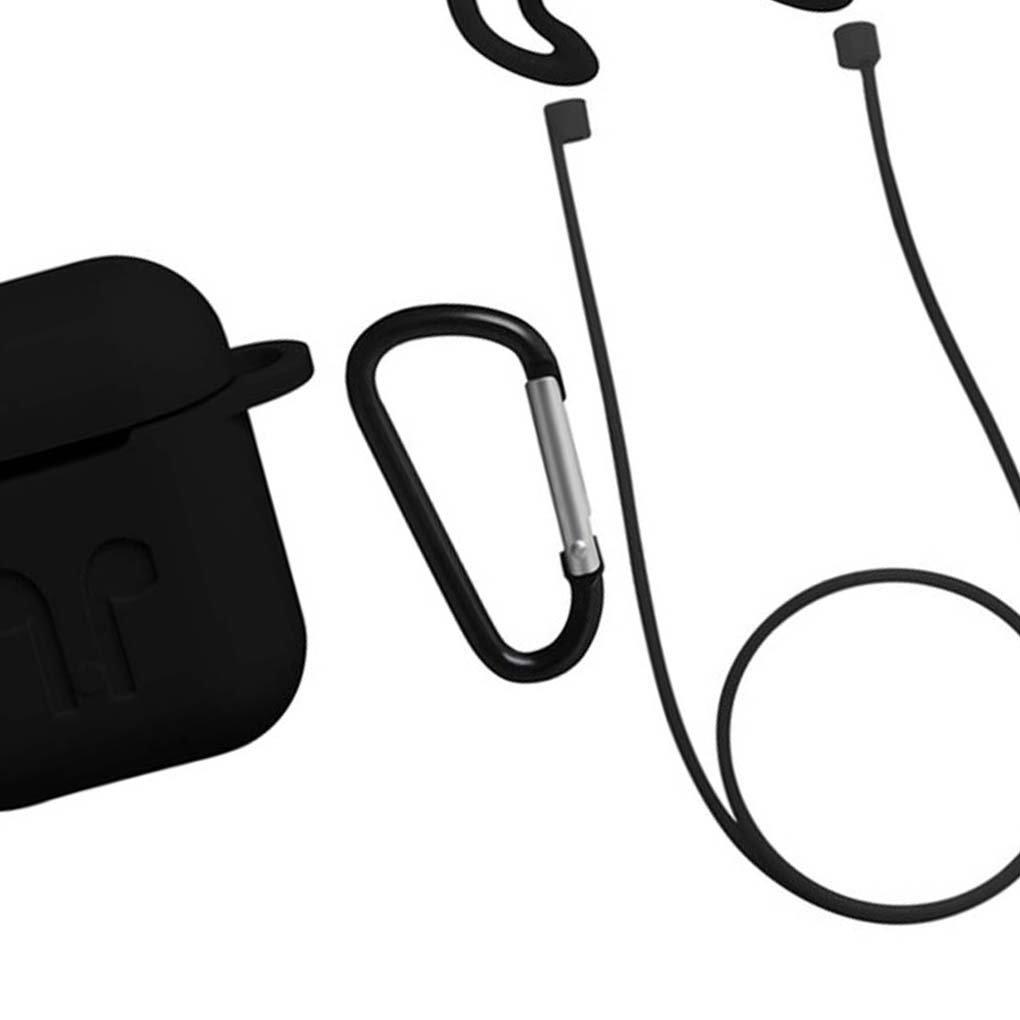Para Airpods auricular inal/ámbrico de auriculares caja port/átil a prueba de polvo de silicona caso de Shell a prueba de golpes Regard