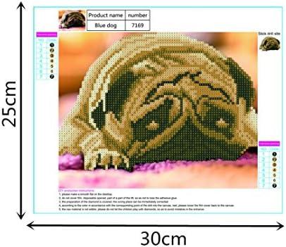 Melancholy Shar Pei 30x25cm Full Drill Embroidery Cross Craft Stitch DIY Home Decorative TiTCool 5D Diamond Painting