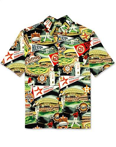 Reyn Spooner Men's Houston Astros MLB Classic Fit Hawaiian Shirt, Scenic 2018, XXXL