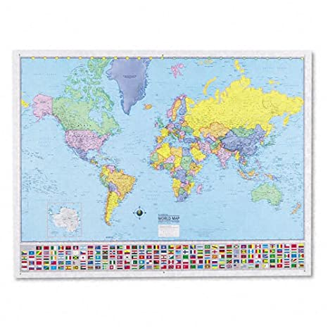 Amazon kappa map deluxe laminated world political map 48w x kappa map deluxe laminated world political map 48w x 36h gumiabroncs Image collections