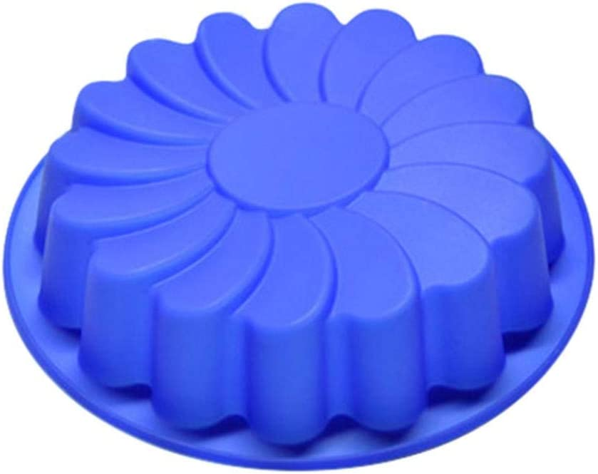 Large Flower Cake Silicone Mold, Mould Chocolate Soap Candy Jelly Mold Baking Pan 9