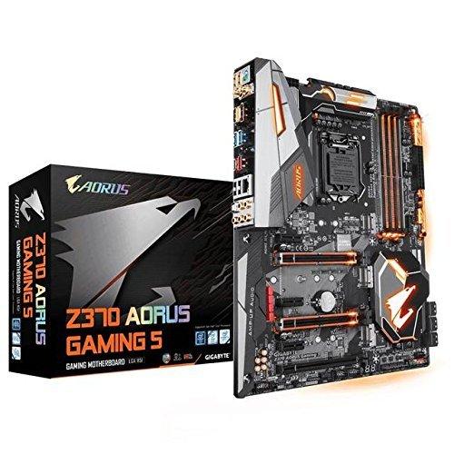 - GIGABYTE Z370 AORUS Gaming 5 (Intel LGA1151/ Z370/ ATX/ 3xM.2/ Onboard AC WIFI /Front USB 3.1/ RGB Fusion/ Fan Stop / SLI / Motherboard) (Renewed)