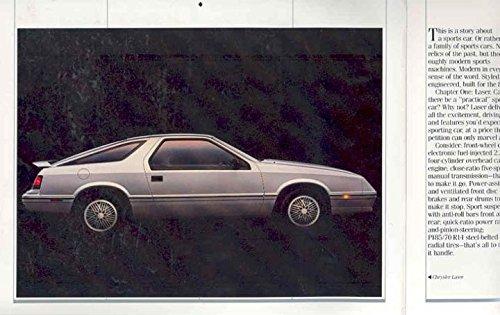 Amazon.com: 1986 Chrysler Laser & Daytona Turbo Z Brochure Canada: Entertainment Collectibles