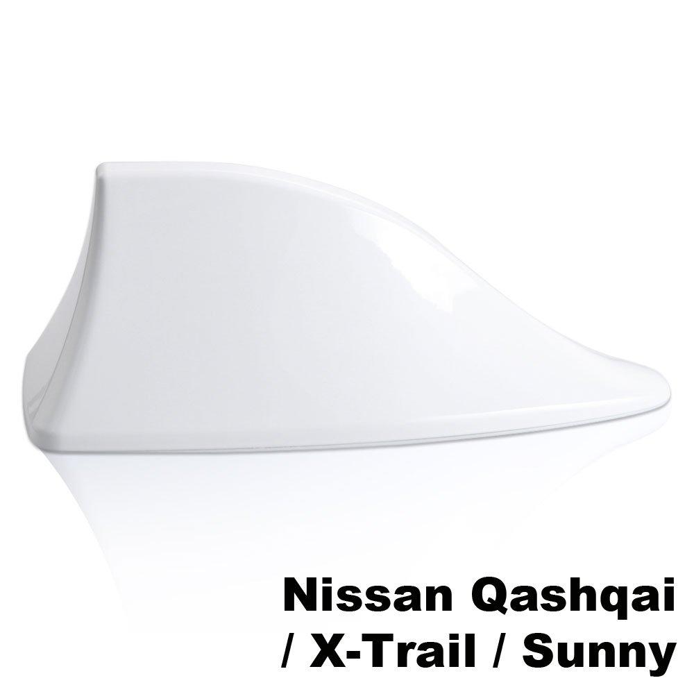 Antena Shark aleta de tibur/ón coche se/ñal Radio FM AM Car Tuning blanco para Nissan Qashqai X-Trail Sunny abq1