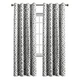 Blackout Curtains Panels for Bedroom Three Pass Microfiber Noise Reducing Thermal Insulated Solid Ring Top Blackout Window Drapes (Two Panels