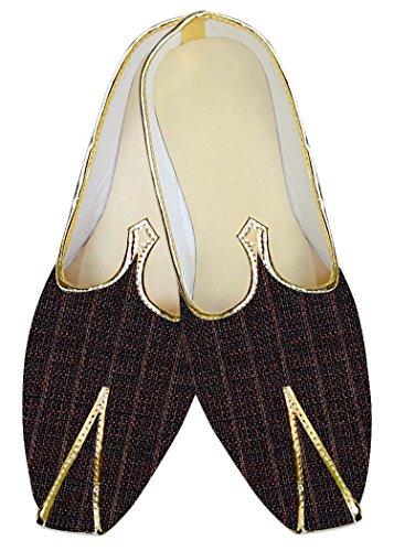 Yute el de Comprueba Zapatos MJ013946 Marrón Boda Hombres INMONARCH qtAIc