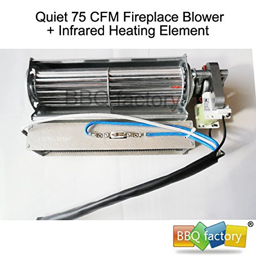 amazon com: bbq factory replacement fireplace fan blower + heating element  for heat surge electric fireplace: home & kitchen