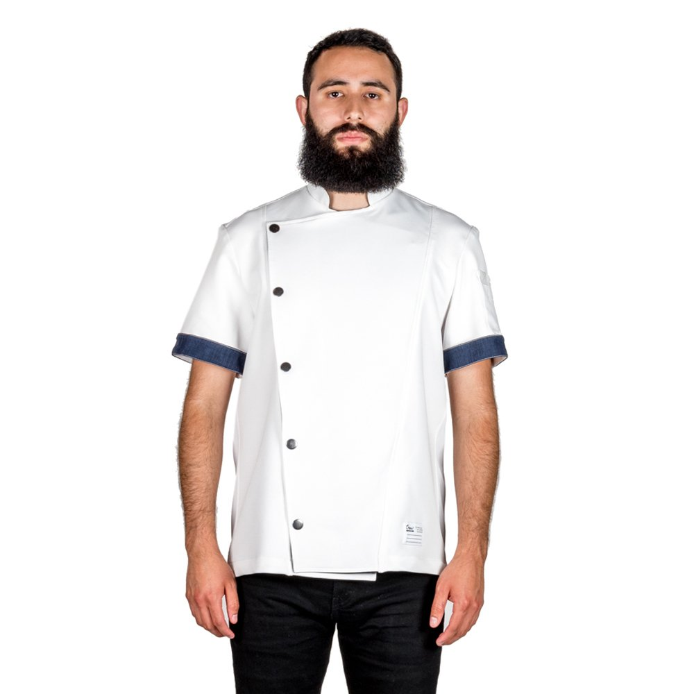 Crew Apparel Men's Chef Coat The Hipster Made in America … (XX-Large, White) by Crew Apparel