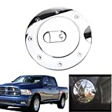 Jade Triple Chrome Plated ABS Fuel Tank Gas Door Cap Cover For Dodge Ram 1500/2500/3500 2009-2017
