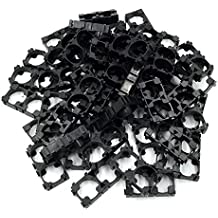 ABOSS 60 Pieces 18650 Lithium Battery 1x2 Cell Spacer Radiating Shell Plastic Holder Bracket DIY Battery Pack